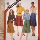 Vintage Simplicity Pattern # 5207 UNCUT Junior Misses Skirts 24 1/2 inch Waist
