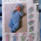 McCalls Pattern # 9407 UNCUT Infant Baby Layette Stretch Knits Only
