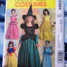 McCalls Pattern # 5494 UNCUT Girls Costume Princess Witch Size 3 4 5 6
