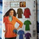 McCalls Pattern # 5714 UNCUT Misses Coat Jacket Size 4 6 8 10 12
