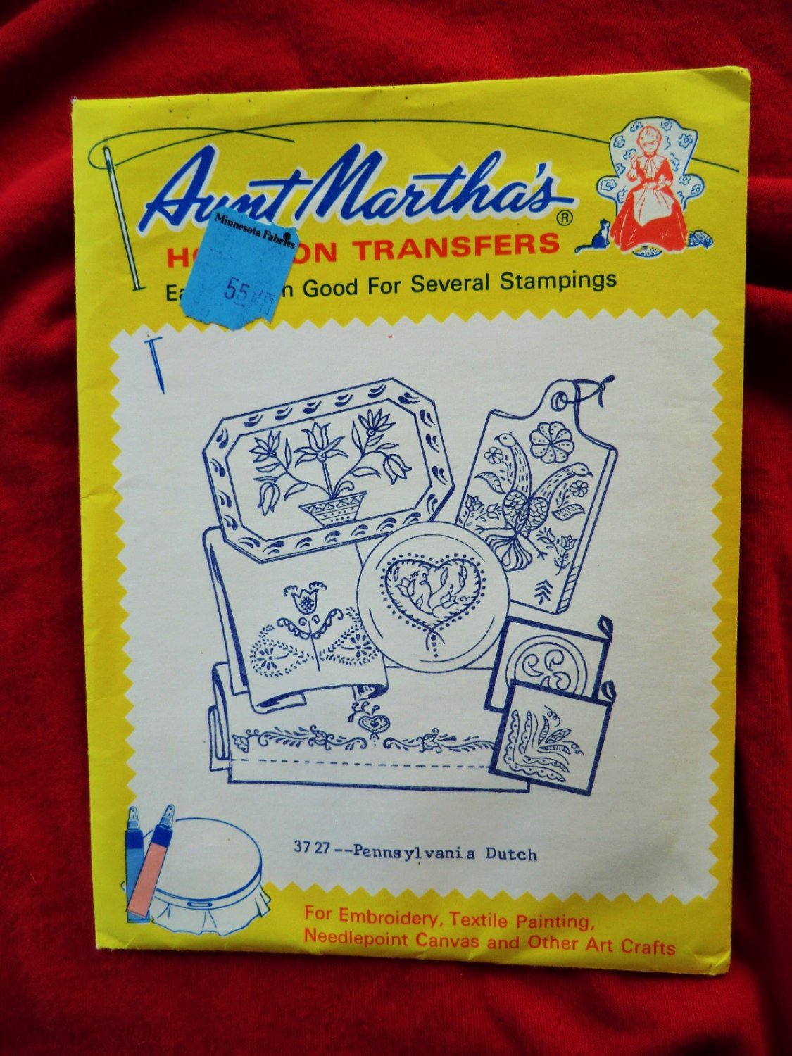Aunt Martha's Embroidery TRANSFER  #3727  Unused  PENNSYLVANIA  DUTCH Designs