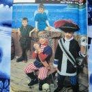Simplicity Pattern # 7965 UNCUT Boys Girls Costume Pirate Peter Pan Size Small Medium Large