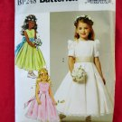Butterick Pattern # BP 248 UNCUT Child / Girls Special Occasion Dress Size 2 3 4 5