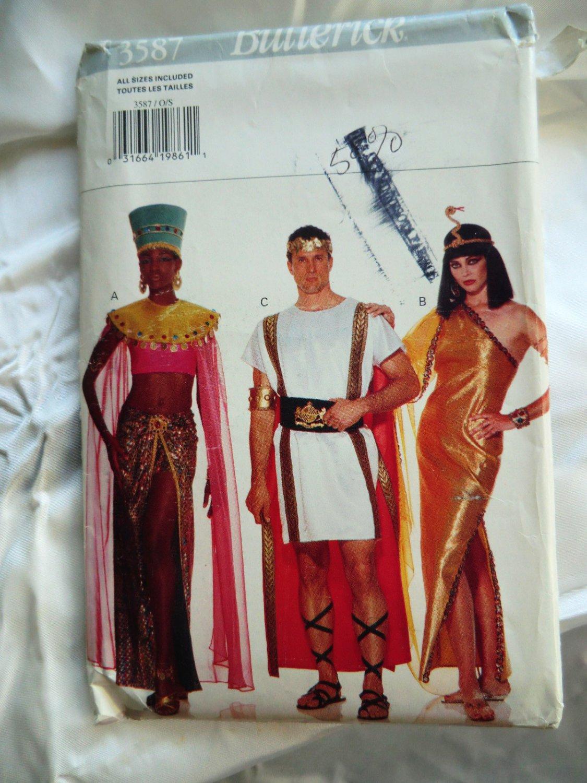 Butterick Pattern # 3587 UNCUT Nefertiti Caesar Cleopatra Adult Costume Pattern  Adult