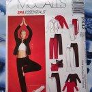 McCalls Pattern 442 (4261) UNCUT Spa Essentials Size XS Small Medium