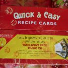 New Sealed Recipe Card File & Music CD