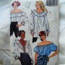 Butterick Pattern # 5463 UNCUT Misses Flounce Blouse Size 6 8 10