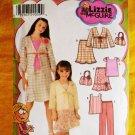 Simplicity Pattern # 4669 UNCUT Girls Top Skirt Pants Bag Size 7 8 10 12 14