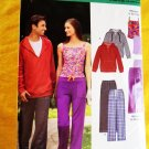 New Look Pattern # 6768 UNCUT Unisex Hoodie Pants ALL Sizes Misses XS S M L XL STRETCH KNITS ONLY