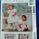 McCalls Pattern # 6399 UNCUT Baby Infant Dress Jumpsuit Smocking All Sizes