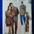 McCalls Pattern # 6845 UNCUT Mens Womans Nightshirt Pajamas Size Small Medium Large