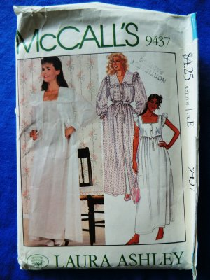 93f69ea52398 McCalls Pattern # 9437 UNCUT Misses Robe Nightgown Size XS ...