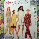McCall's # 8186 UNCUT Misses Pattern  Unlined Jacket Pull-On Pants & Shorts Size14 16 18