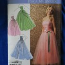 Simplicity Pattern UNCUT # 3878 Misses Strapless Prom Dress or Gown  Size 12 14 16 18 20