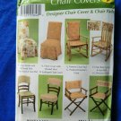 Simplicity Pattern # 5952 UNCUT Designer Chair Cover Chair Pad