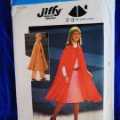 Simplicity Pattern # 6839 UNCUT Misses Cape Vintage 1975  Size Small Medium
