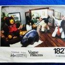 Vogue Pattern # 1827 UNCUT Stuffed Animals Lamb Bear Penguin Hippo Bunny
