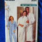 Butterick Pattern # 4483 UNCUT Mens Misses Unisex Robe and Pajamas Size XS Small Medium