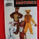 Simplicity Pattern # 9808 UNCUT Bear Tiger  Lion Bunny Kids Halloween Costume  Size 2 4 6 8 10 12