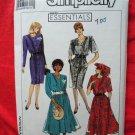 Simplicity Pattern # 9246 UNCUT Misses Dress Size 16 18 20 22 24