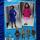 Simplicity Project Runway Pattern # 2534 UNCUT Girls Coat Jacket Vest Size 7 8 10 12 14