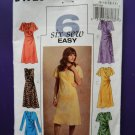 Butterick Pattern # 4723 UNCUT Misses Semi-Fitted Bias Dress with Flounce Size 8 10 12 14