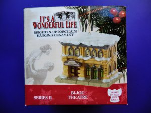 It's (Its) A Wonderful Life Ornament The Bijou Theater Series 2 II ~ Bells of St Mary