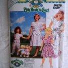 Butterick Pattern # 4889 UNCUT Girls Dress Jumpsuit Size 12 14 Cabbage Patch