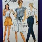 Vogue Pattern # 8036 UNCUT Misses Pants Shorts Size 8 10 12