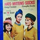 Vintage 1962 Easy Knit & Crochet Booklet Mid Century Hats Mittens Socks