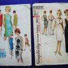 Lot 1960's UNCUT Simplicity Pattern # 5322 Misses Dress & Gown Pattern UNCUT Size 10 Small