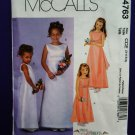 McCalls Pattern # 4763 UNCUT Girls Special Occasion Dress Size 3 4 5 6