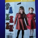 Simplicity Pattern # 3588 UNCUT Girls Dress Variation Neck Sleeve Size 3 4 5 6 7 8