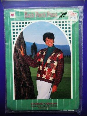UNCUT Quilt Pattern for Cardigan STARDUST Size 6 8 10 12 14 16 19 20 22