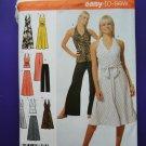 Simplicity Pattern # 4998 UNCUT Misses Dress Top Skirt Size 14 16 18 20