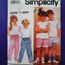 Simplicity Pattern # 7892 UNCUT Childs Top Pants Size 2 3 4