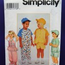Simplicity Pattern # 8158 UNCUT Baby Toddler Pants Shorts Top Cap Size 1/2 , 1 and 2