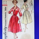 Vintage Simplicity Pattern # 2412 UNCUT Misses Dress Bust 38""