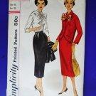 Vintage Simplicity Pattern # 2169 UNCUT Misses Suit Skirt Jacket Blouse Size 16