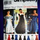 Simplicity Pattern # 9495 UNCUT Misses Gown Special Occasion Dress Size 16 18 20