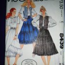 McCalls Pattern # 8439 UNCUT Misses Tiered Skirt Top Vest Size 14 Laura Ashley