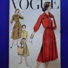 """Vintage 1957 Vogue Pattern # 9277 UNCUT Misses Dress 36"""" Bust"""
