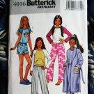 Butterick Pattern # 4016 UNCUT Girls Robe Top Shorts Pants Size 7 8 10