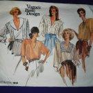 Vogue Pattern # 1832 UNCUT Misses Romantic Blouse Size 8 10 12
