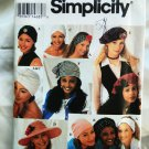 Simplicity Pattern # 8699 UNCUT Misses Hats Ten Styles Turban ALL Sizes