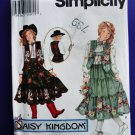 Simplicity Pattern # 9180 UNCUT Girls Tiered Skirt Blouse Vest Size Small Medium Large