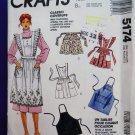 McCalls Pattern # 5174 UNCUT Misses Apron All Sizes