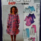 McCalls Pattern # P 207 Girls Nightgown Top Pants Size 3 4 5 6