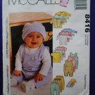 McCalls Pattern # 8416 UNCUT Baby Layette Wardrobe Size Small Medium Large XL
