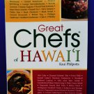 Great Chefs of Hawaii Cookbook Hawaiian Recipes